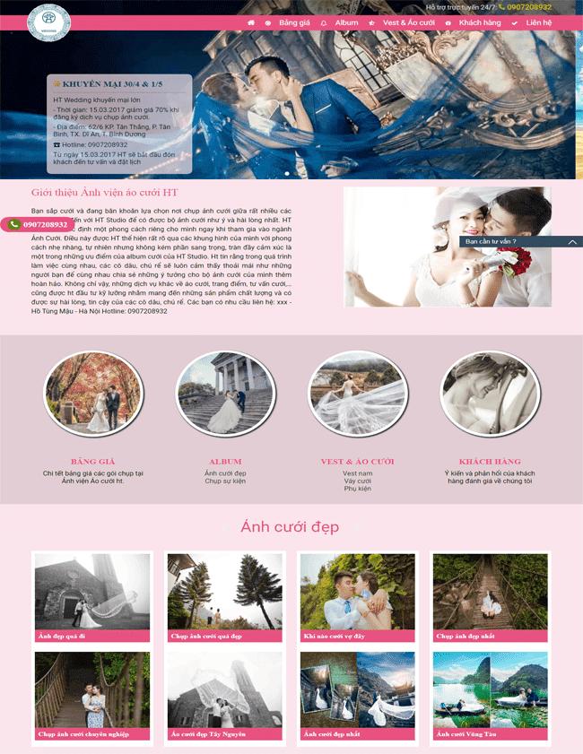 Template blogspot dịch vụ cưới hỏi, chụp hình studio