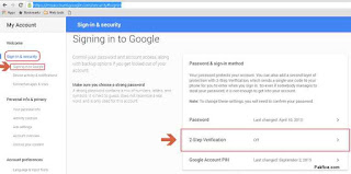 Gmail Sign in & Security