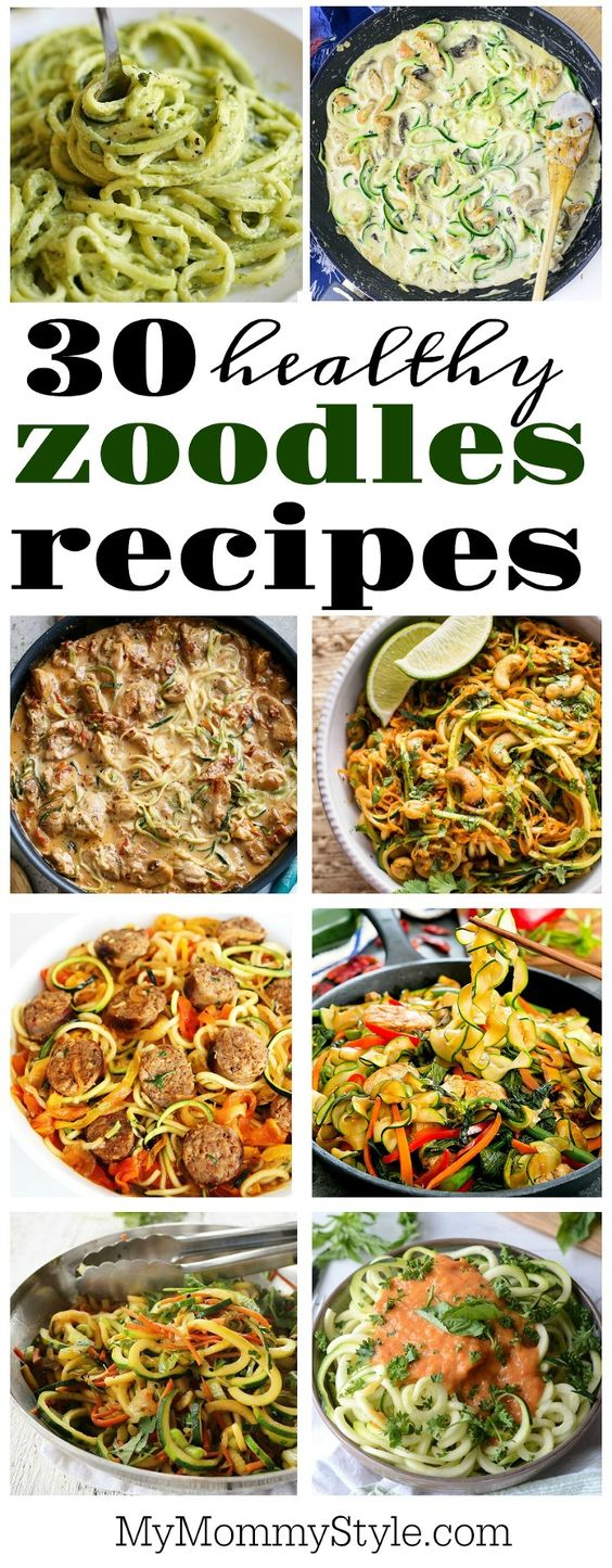 30 delicious and healthy zoodles recipes