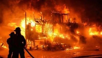 Pabrik china dibakar