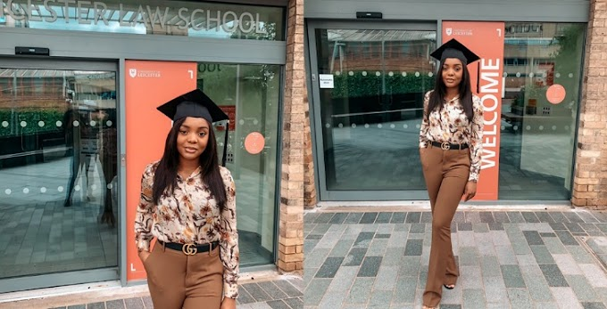 Beautiful Nigerian lady graduates with first class from Leicester Law School