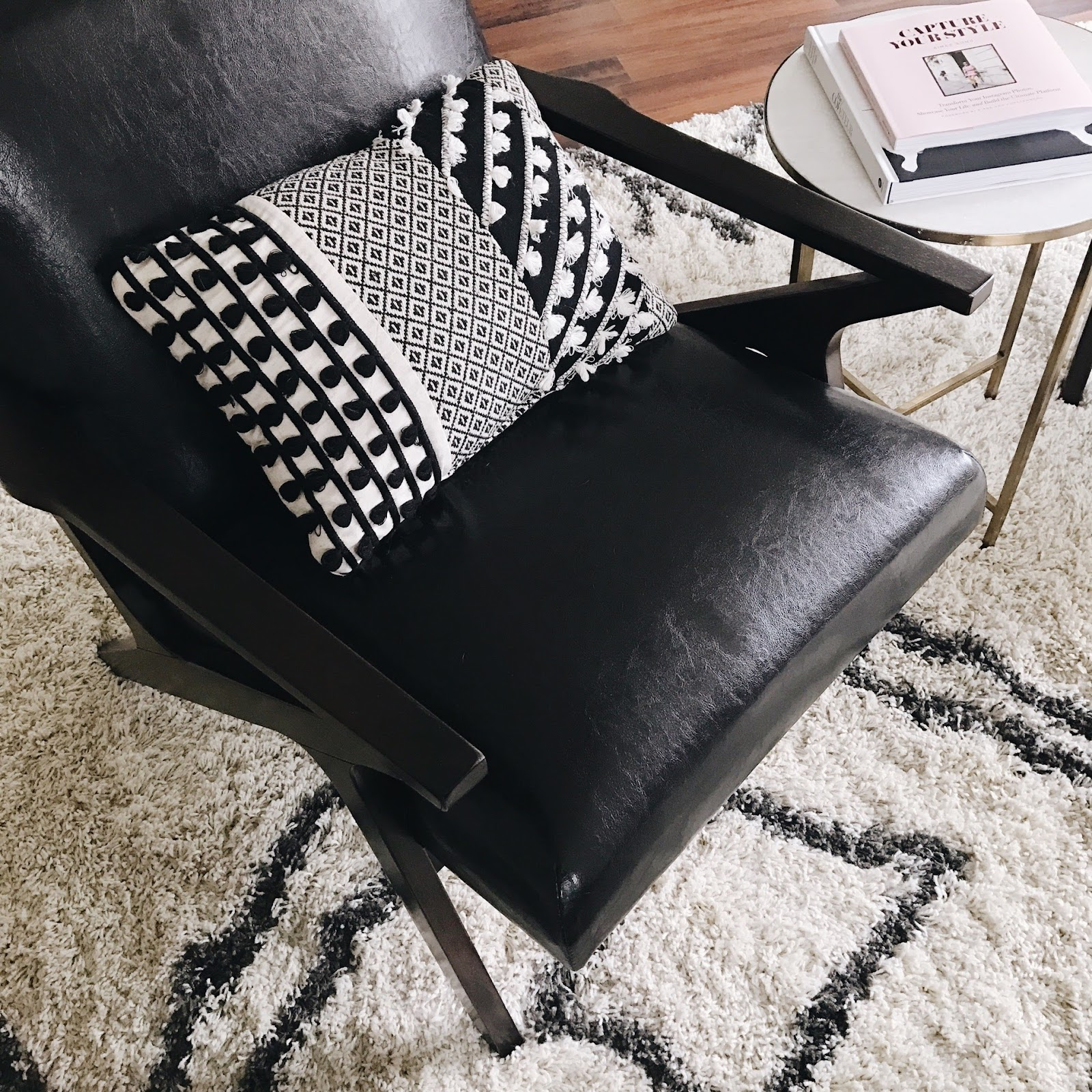 Faux leather accent chair from All Modern