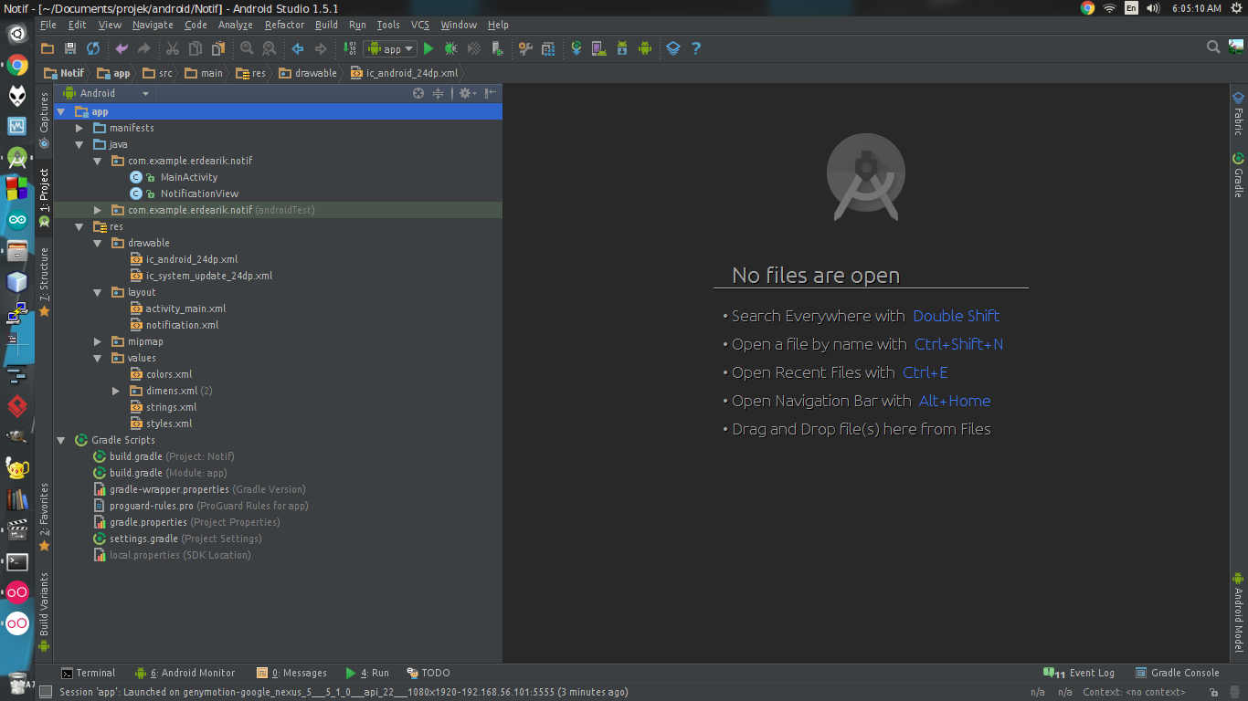 Android Studio] Created notification