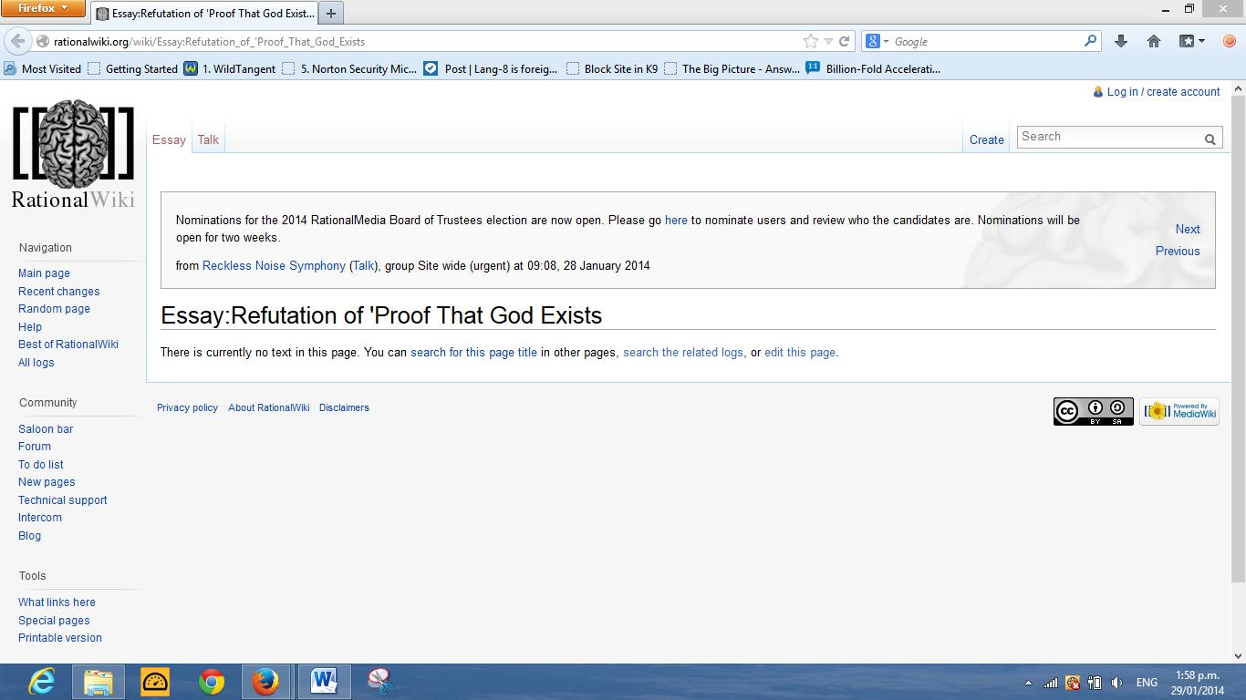 God Or Absurdity Blog Rational Wiki