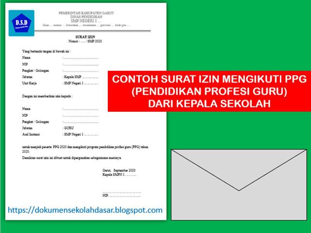 contoh surat izin mengikuti ppg dari kepala sekolah