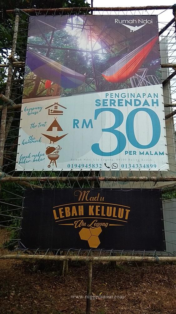 Kedah | Tapak perkhemahan lengkap di ladang kelulut Rumah Ndoi, Ulu Legong