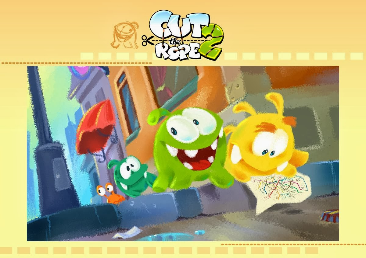 Early concept art for cut the rope 2