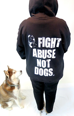 "Fabulous ""Fight Abuse Not Dogs"" sweatshirt from New York Bully Crew.  #dogs #pitbulls"