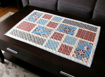 urban pathway quilted table runner pattern