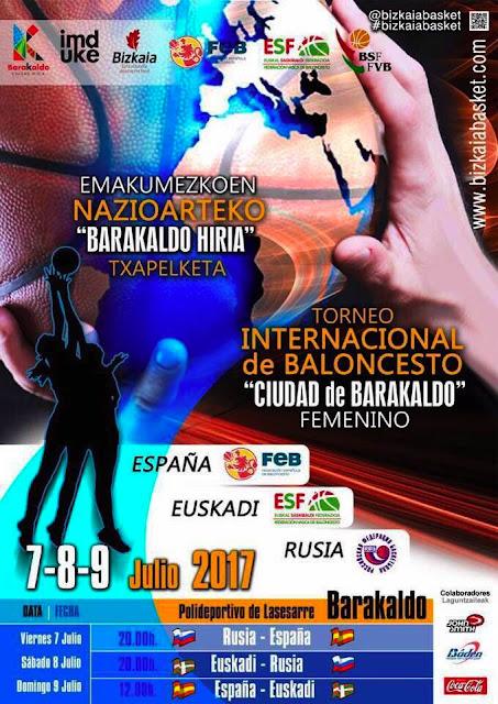 Baloncesto | Las selecciones femeninas sub-19 de España, Rusia y Euskadi juegan en Barakaldo