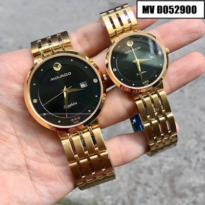 Đồng hồ cặp đôi màu vàng Movado MV Đ052900