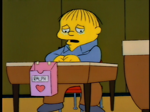 "when someone pronounces it valentines day meme as me memes - Holiday Reviews The Simpsons ""I Love Lisa"""