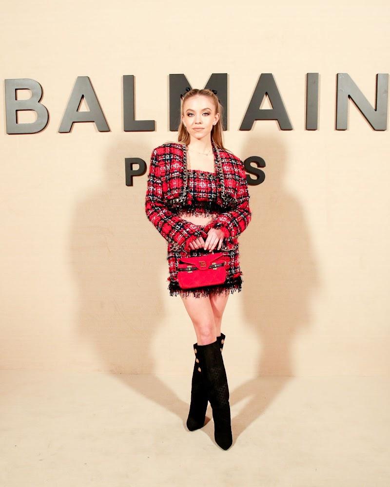 Sydney Sweeney CLicks at Balmain Fashion Show at PFW in Paris 28 Feb-2020