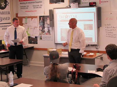 Tri Star instructors address students and guest speakers