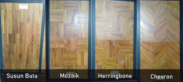 Model pemasangan lantai kayu jati