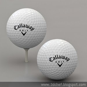 free 3d model golf ball