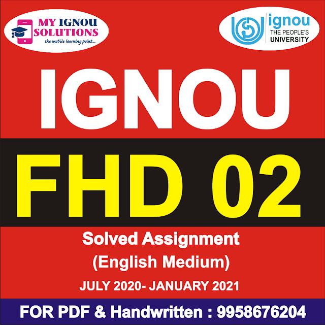FHD 02 Solved Assignment 2020-21 Hindi Medium