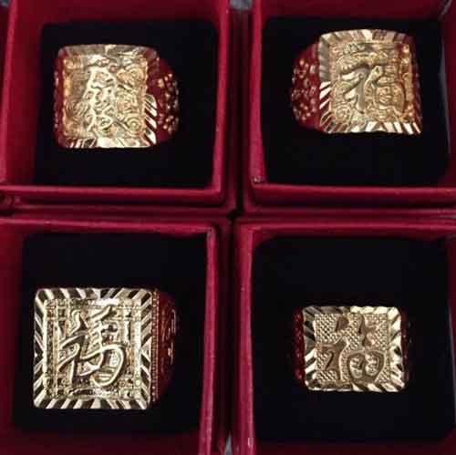 Nhẫn vàng chữ Hán fullbox giá sỉ rẻ nhất