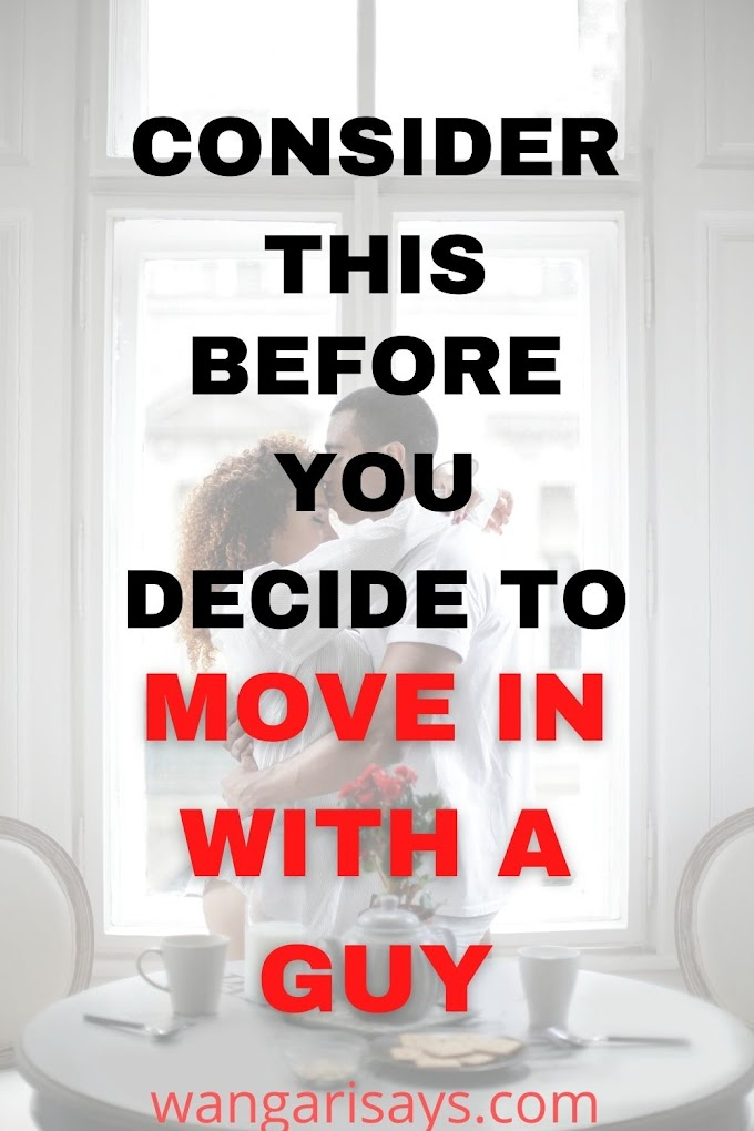 WHEN YOU DECIDE TO MOVE IN WITH A GUY