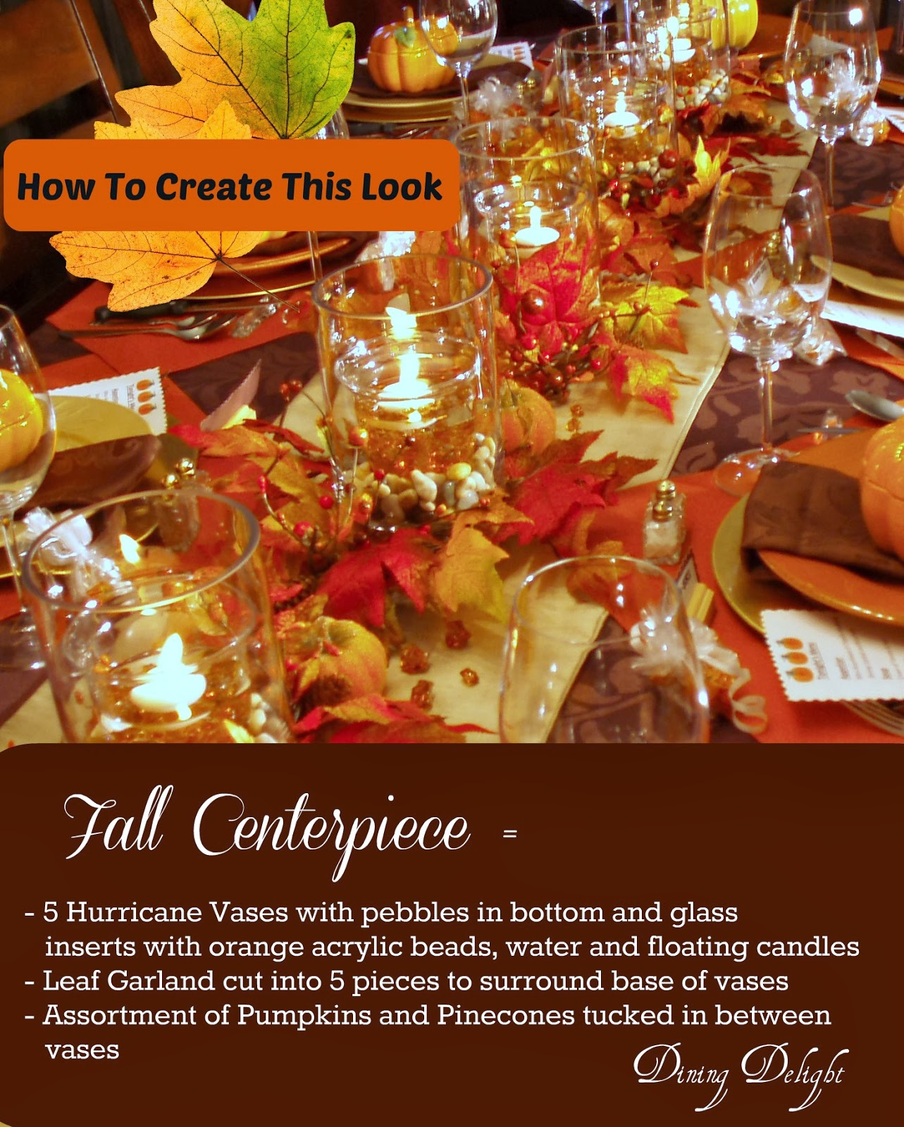 Dining delight fall dinner party for ten