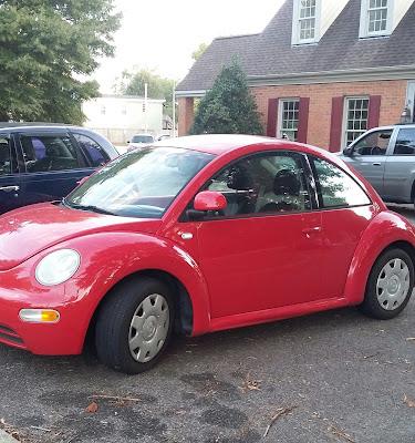 Red VW Bug or Volkswagen Beetle