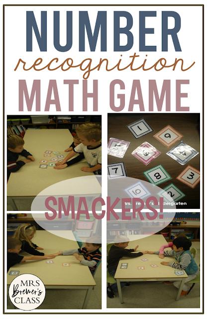 Number recognition practice math game for Kindergarten