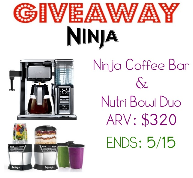 Ninja Coffee Bar and Nutri Bowl Duo GIVEAWAY ARV:USD 320 5/15