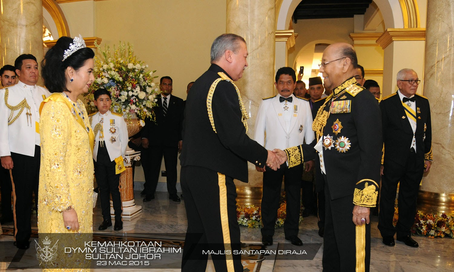 malaysian royalty the coronation of the sultan of johor