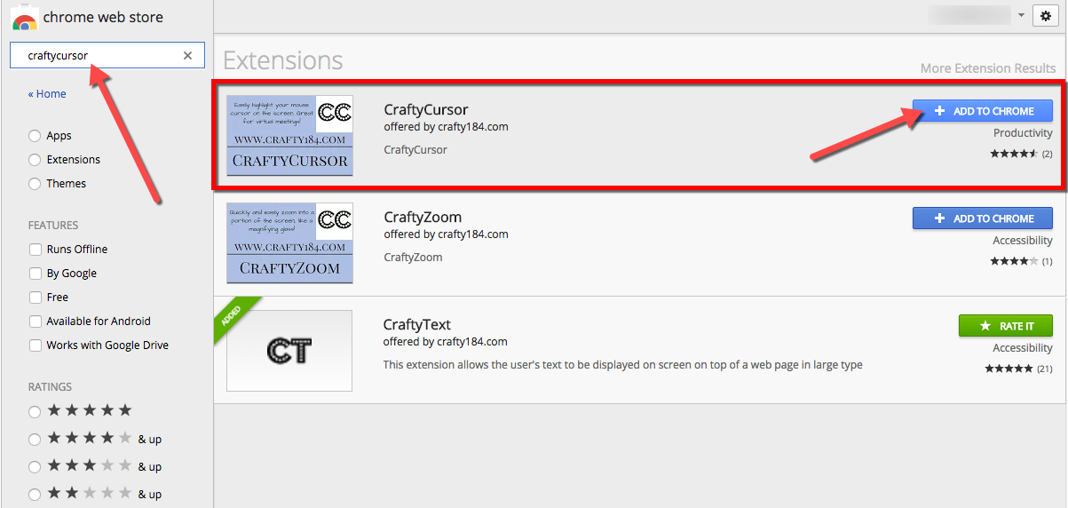 TeachingTechNix: CraftyCursor Google Chrome Extension