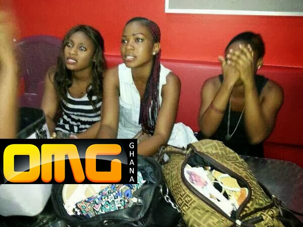 PHOTOS & VIDEO: Three Univ. Of Ghana Girls Caught Stealing Panties At Accra Mall's 'Mr Price' and Humiliated