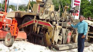VILLA JARAGUA: Llegan los equipos del MOPC para el asfaltado de calles.