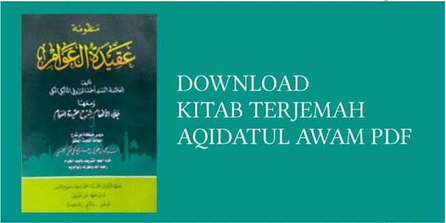 Download Kitab Aqidatul Awam PDF,  Terjemah dan Syarahnya