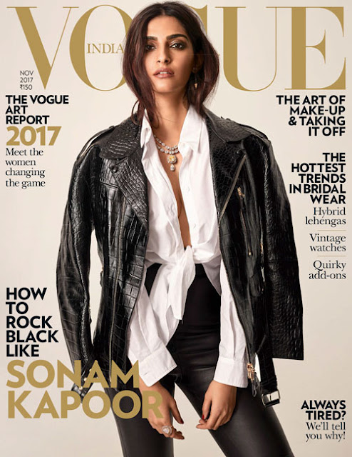 Sonam Kapoor Covers Vogue November 2017 Issue