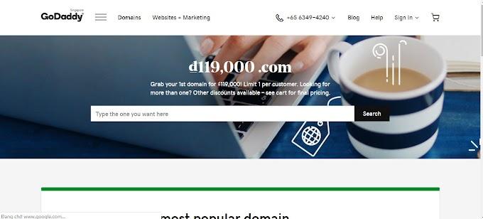 Hướng dẫn mua domain tên miền nhà cung cấp godaddy