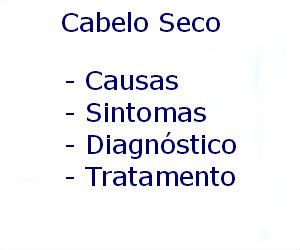 Cabelo seco causas sintomas diagnóstico tratamento prevenção tratar
