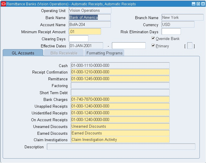 Oracle Techno Functional Automatic Receipts And Remittance In R12