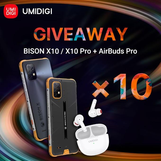 Sorteio de Dez Smartphones UMIDIGI BISON X10 Series + AirBuds Pro