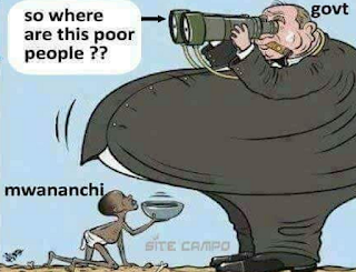 Eat food that is given to you or else remain hungry. Do not beg. These are our governments in cartoon style.