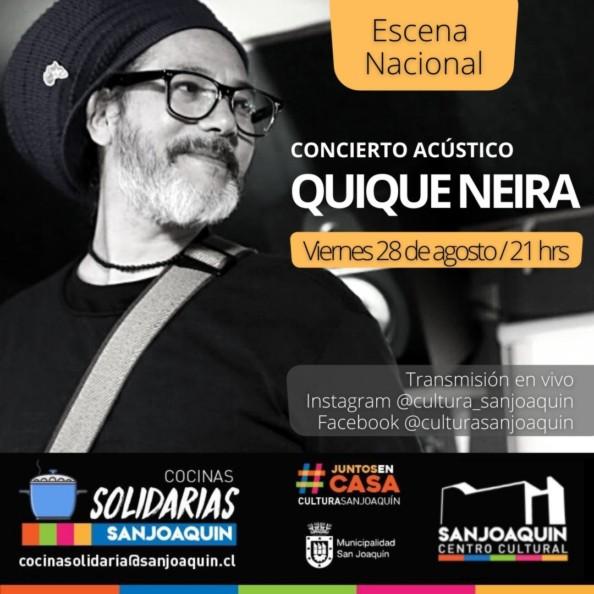 Quique Neira canta en versión acústico desde San Joaquín al mundo