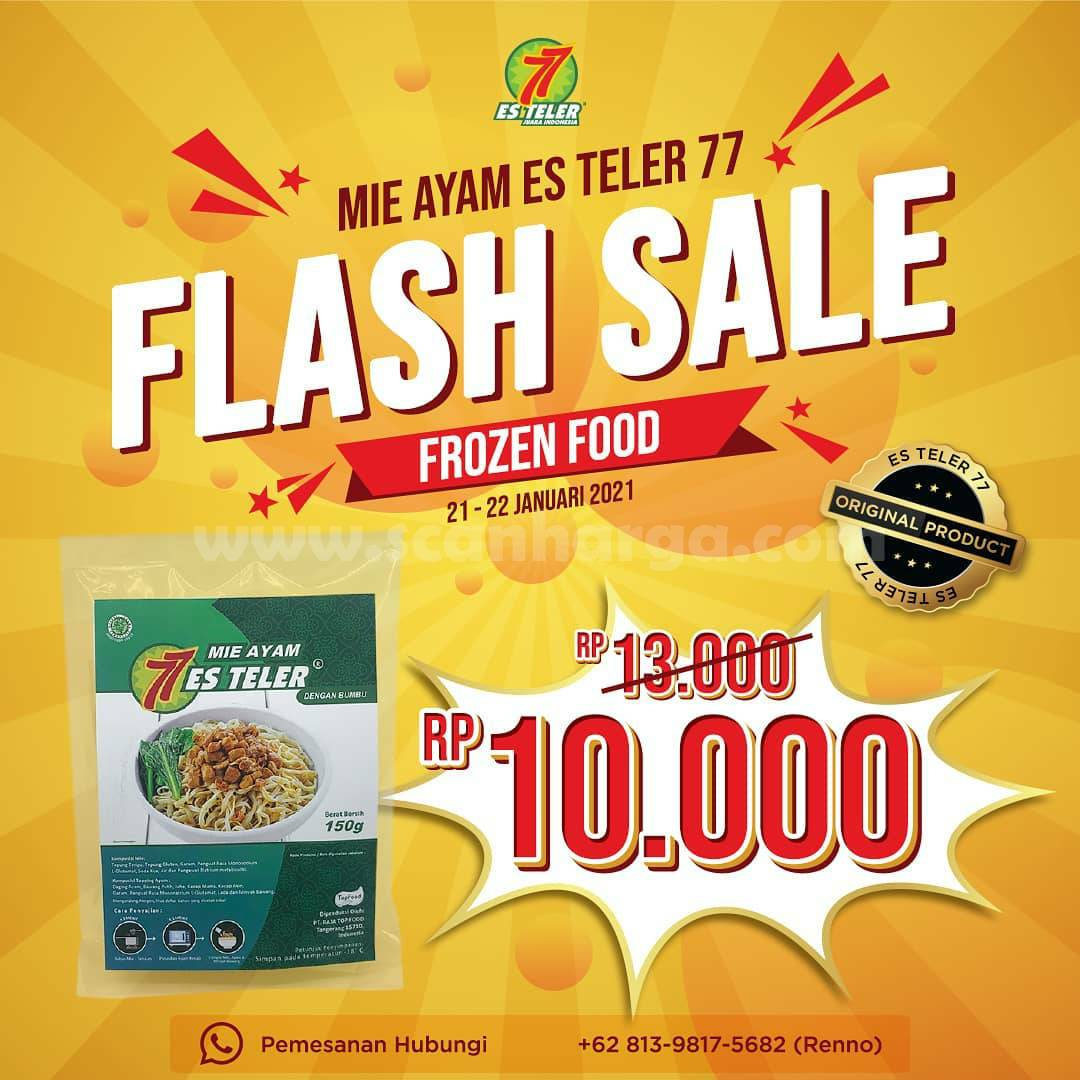 ES TELER 77 FLASH SALE! Mie Ayam Frozen Food Es Teler 77 cuma Rp 10,000 aja