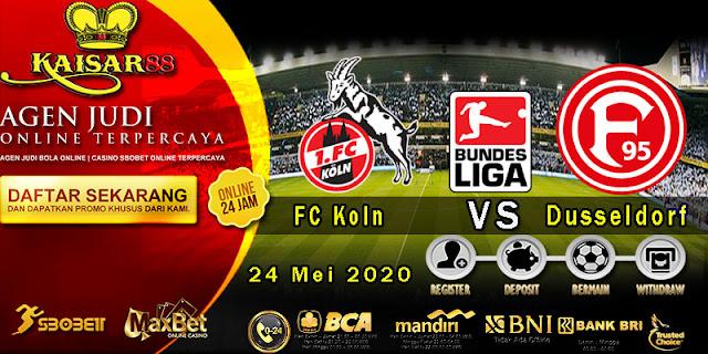 Prediksi Bola Terpercaya Liga German Koln vs Fortuna Dusseldorf 24 Mei 2020