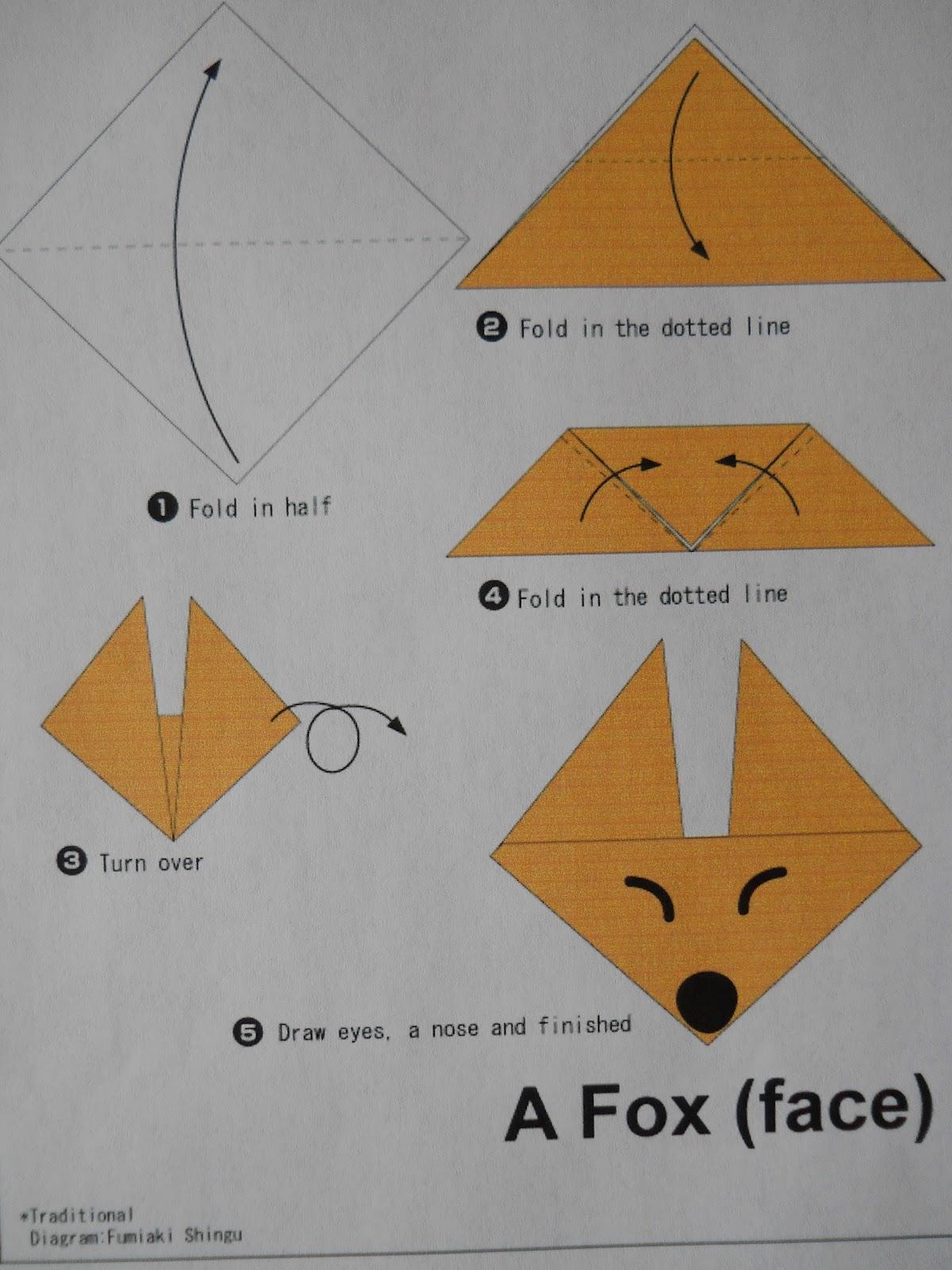 Mrs T S First Grade Class Fox In Socks Origami