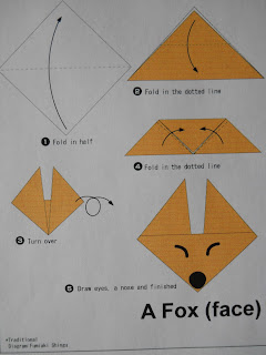mrs t 39 s first grade class fox in socks origami. Black Bedroom Furniture Sets. Home Design Ideas