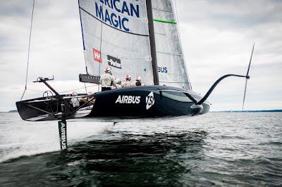 L'AC75 American Magic, le bateau de l'équipe américaine pour l'America's Cup