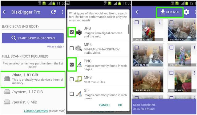 Diskdigger Aplikasi Pengembali File Android