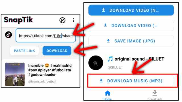 Cara download lagu tiktok