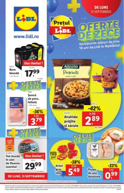 LIDL Catalog - Brosura  13-19.09 2021→ PREMII de ZECE  | Atractia Saptamanii | LidlPlus - Aktiveaza Cupoanele