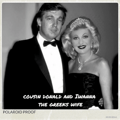 Cousin Donald Trump and his wife Iwanna Trump on their wedding day