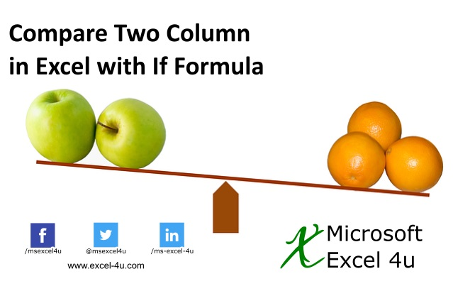 Compare Two Column in Excel with If Formula