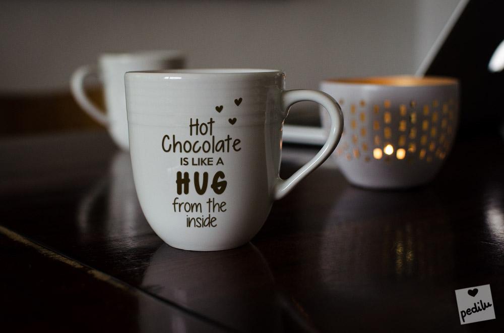 Hot chocolate is like a hug from the inside (mug)